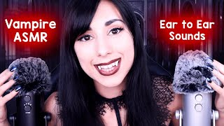 ASMR Vampire Putting You to Sleep with Slow Mic Scratching & Whispers | Ear to Ear Sounds| Role Play