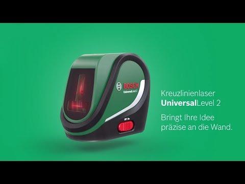 Bosch stellt vor:  Der Kreuzlinienlaser UniversalLevel 2