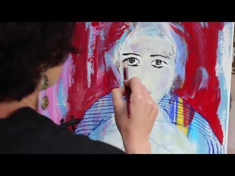 Sennelier 'abstract' acrylic - Megi Balzer (GoPro)