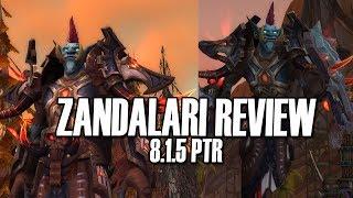 🦕8.1.5 Zandalari Troll Review - Elemental Shaman Male [BFA PTR]