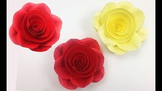 DIY Paper Rose: Easy and Realistic Paper Roses 🌹 Flower Tutorial | How to Make Beautiful Paper Rose