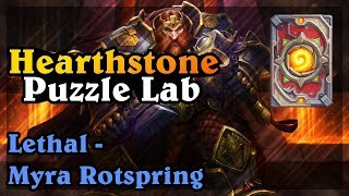 HEARTHSTONE BOOMSDAY PROJECT - MYRA ROTSPRING - LETHAL PUZZLES