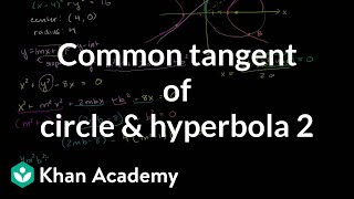 IIT JEE Circle Hyperbola Common Tangent Part 2