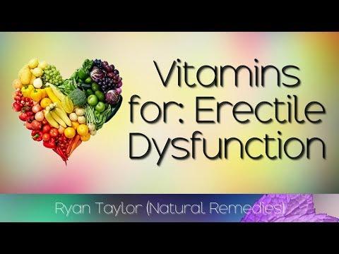 Vitamines pour renforcer lérection