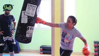 نورس سليماني بطلة في رياضة الكيك بوكسينق