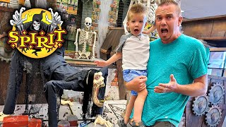 Last to Scream Wins!!! Taking Preston to Spirit Halloween!