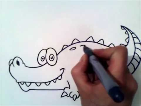 как рисовать крокодила