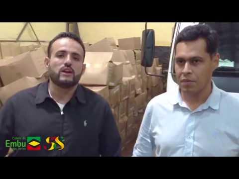 Prefeito Ney Santos e Secretário de Educação Pedro Angelo entrega kits escolares para as crianças do Embu da Artes