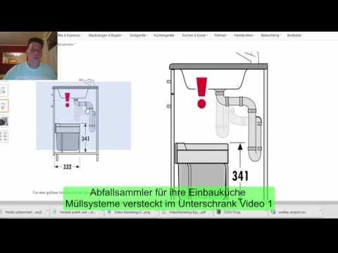 Abfallsammler für ihre Einbauküche Mülltrennsysteme im Unterschrank Video 1
