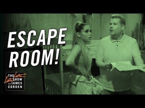 James Corden & Ariana Grande Visit an Escape Room (видео)