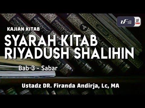 Syarah Kitab Riyadush Shalihin – Bab Sabar