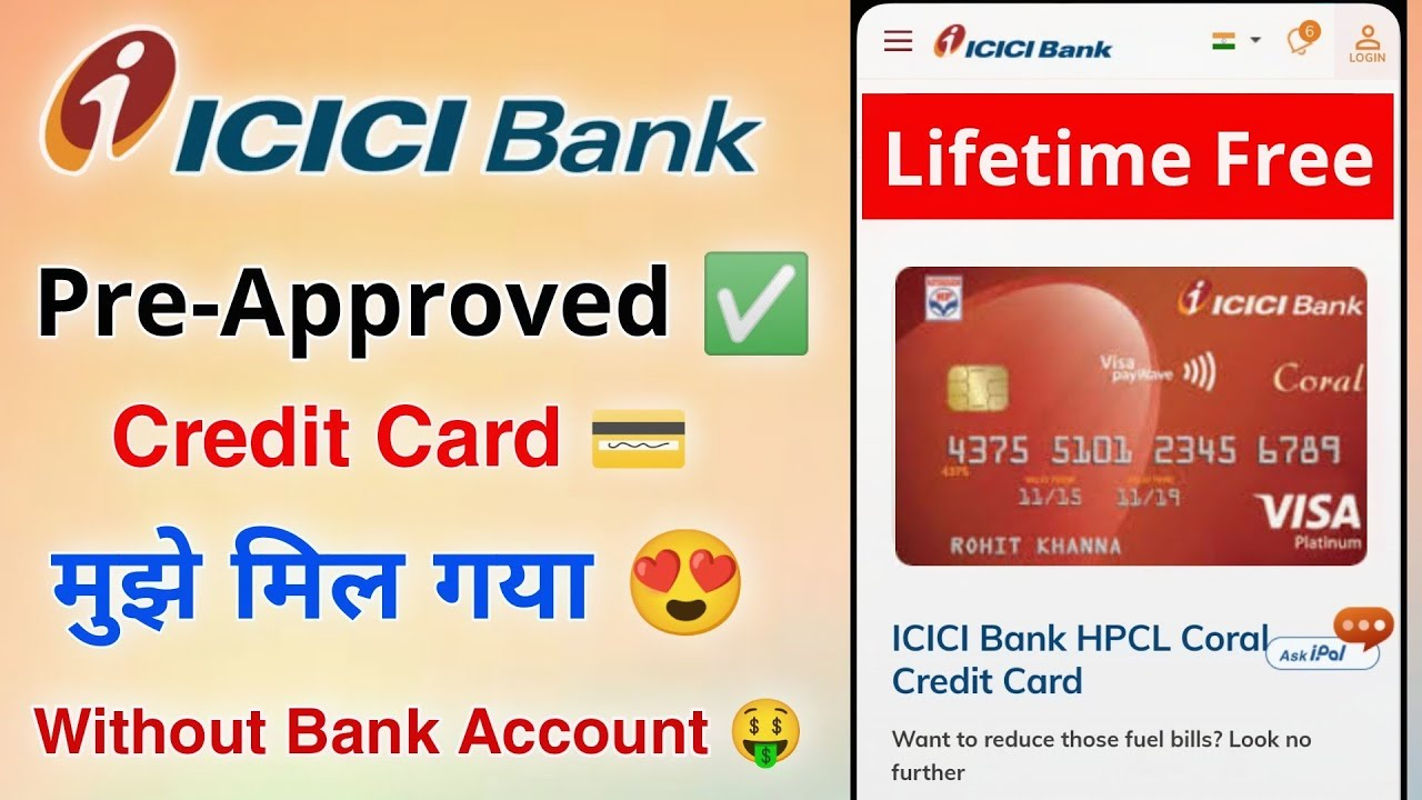 ICICI Bank Pre-Approved Credit Card without Bank account thumbnail