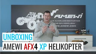 Unboxing & Erklärung @Amewi AFX4 XP Single Rotor Helikopter