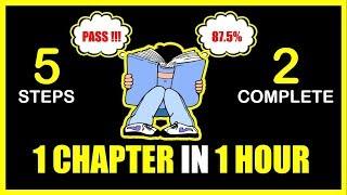 एक घंटे में एक चैप्टर कैसे खत्म करें | 5 STEPS TO COMPLETE 1 CHAPTER IN 1 HOUR | SMART STUDY TIPS