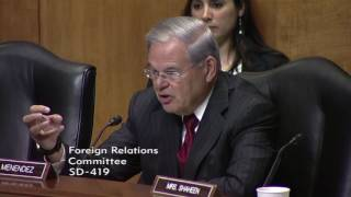 Menendez Discusses Taylor Force Act at Foreign Relations Committee Hearing