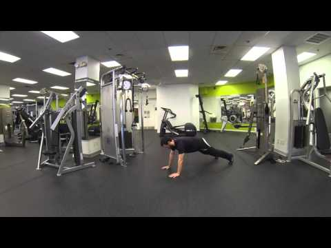 Upper Body Twist in Push Up Position