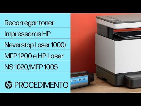 Como recarregar toner usando um kit de recarga de toner nas impressoras das séries HP Neverstop Laser 1000/MFP 1200 e HP Laser NS 1020/MFP 1005