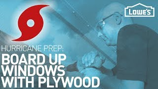 How To Board Up Windows with Plywood | HURRICANE PREP