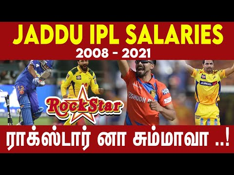 Ravindra Jadeja IPL Salaries ( 2008 - 2021 )   #Ne..