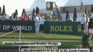 Dubai Golf World Championship - first tee off 19 Nov 2009