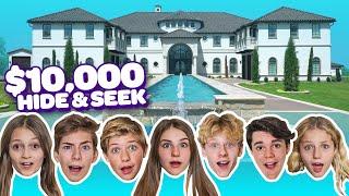 LAST TO GET CAUGHT WINS $10,000! Hide & Seek Challenge **HYPE HOUSE**|Sawyer Sharbino Piper Rockelle