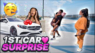 Surprising My Lil Sister Brooklyn With Her 1st Car! *Thank YALL❤️*