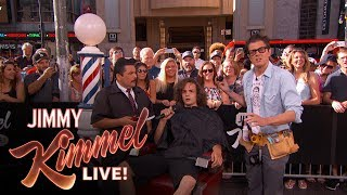 Johnny Knoxville Surprises Pedestrian with Summer Haircut