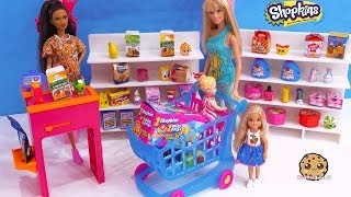 Barbie Goes Shopping ! Season 10 Surprise Blind Bags Shopkins Mini Packs
