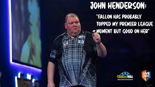 "John Henderson: ""Fallon has probably topped my Premier League moment but good on her"""
