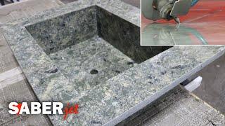 Mitered Quartz Sink | SABERjet™