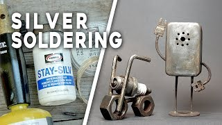 HOW TO SILVER SOLDER - Metal Hardware Sculptures, Upcycling, Etc.