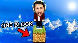 I Beat Minecraft Using One Block