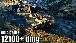 ЭПИК БОЙ E 50 Ausf. M против Об. 268/4 🌟 12100+ dmg 🌟 World of Tanks максимальный урон на ст 10