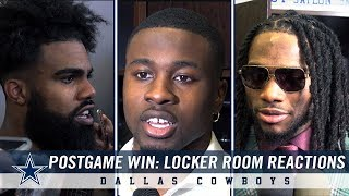 Post Game Win Against Philadelphia Eagles: Locker Room Reactions   Dallas Cowboys 2018