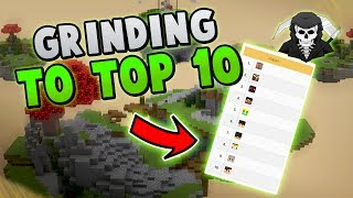 GRINDING FOR THE TOP 10! ( Hypixel Bed Wars FULL RELEASE )