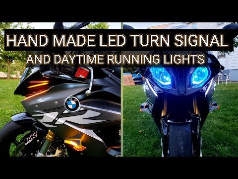 The best BMW s1000rr custom turn signal and daytime running light