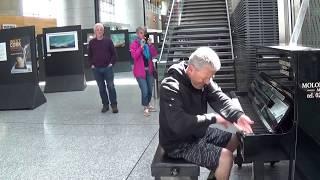 Random Passenger Rocks the Cork Airport Piano