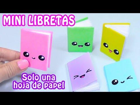 MINI LIBRETAS CON SOLO UNA HOJA DE PAPEL - DIY REGRESO A CLASES