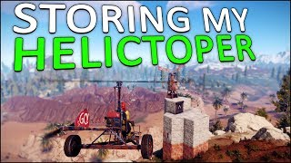 EXPANDING my BASE for my NEW MINICOPTER! - Rust Solo #7
