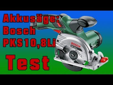 Test der Akku-Handkreissäge Bosch PKS10,8LI Review