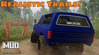 SpinTires Mud Runner: MOST REALISTIC TRAIL MAP!? Oxford County Trails