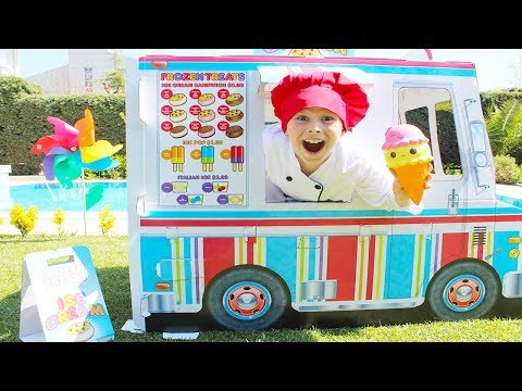 Kids Pretend Play with Food Sweet Truck - Ice Cream Playhouse - Learn colors with Nursery Rhymes