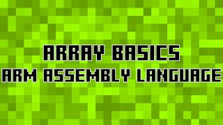 Arrays in ARM Assembly
