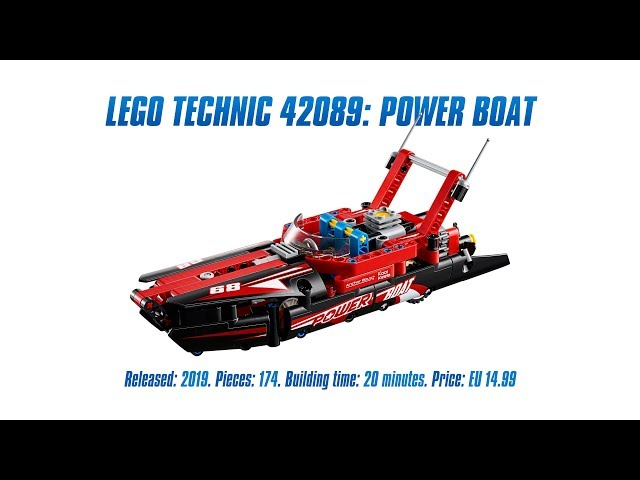 LEGO Technic 42089: Power Boat In-depth Review, Speed Build & Parts List [4K]