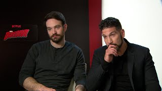 MARVEL´S DAREDEVIL Charlie Cox and Jon Bernthal Interview - The Walking Dead MARVEL Punisher