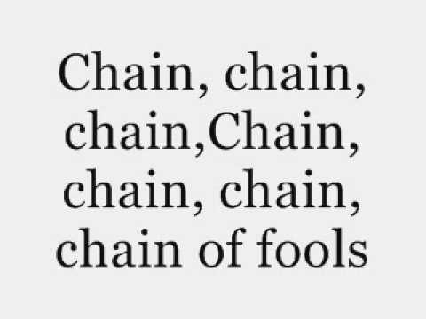Aretha Franklin - Chain of Fools - Lyrics.