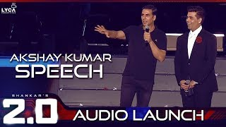 Akshay Kumar Speech at 2.0 Audio Launch | Rajinikanth, Akshay Kumar | Shankar | A.R. Rahman