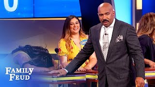 Guys, is your PACKAGE like THIS SNAKE? | Family Feud