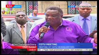 COTU secretary Francis Atwoli denies being behind NASA's deal