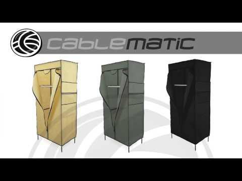 Armario ropero guardarropa de tela desmontable 70x45x145 cm distribuido por CABLEMATIC ®